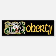 Doherty Celtic Dragon Bumper Bumper Sticker
