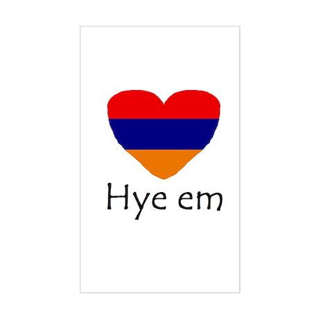 Hye em Rectangle Sticker
