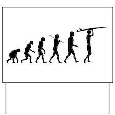 Surfing Evolution Yard Sign