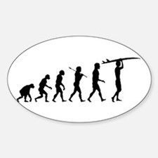 Surfing Evolution Sticker (Oval)