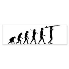 Surfing Evolution Car Sticker
