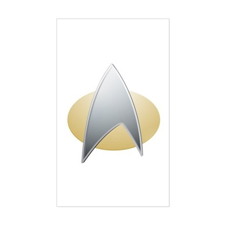 Star Trek TNG Logo Sticker (Rectangle)