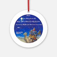 Three Wisemen Christmas Ornament-3 (Round)