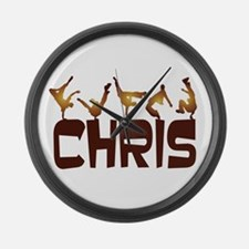 Street Dancing CHRIS Large Wall Clock