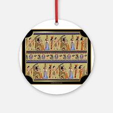 Egyptian Hieroglyphics Ornament (Round)