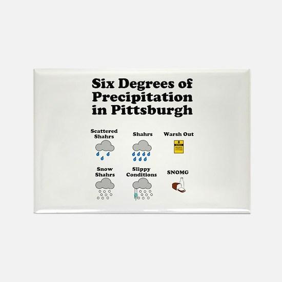 Six Degrees of Precipitation Rectangle Magnet