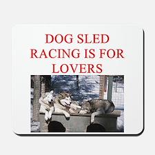 dog racing Mousepad