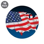 """USA Map with Flag and Stars 3.5"""" Button (10 pack)"""