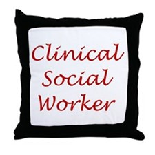 Clinical Social Worker Throw Pillow