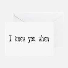 I knew you when Greeting Cards (Pk of 10)
