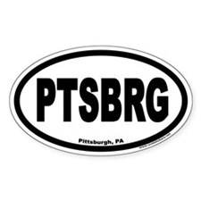 Pittsburgh PA PTSBRG Euro Oval Decal