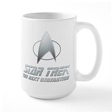 Star Trek TNG Text silver Mug