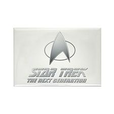 Star Trek TNG Text silver Rectangle Magnet