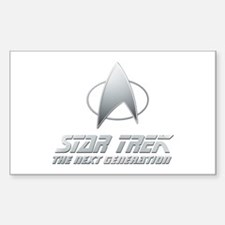 Star Trek TNG Text silver Decal