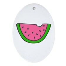 'Colorful Watermelon' Oval Ornament