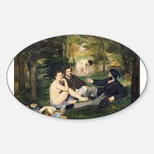 Funny Impressionist Sticker (Oval)