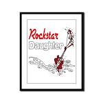 Rockstar Daughter Framed Panel Print