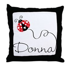 Ladybug Donna Throw Pillow