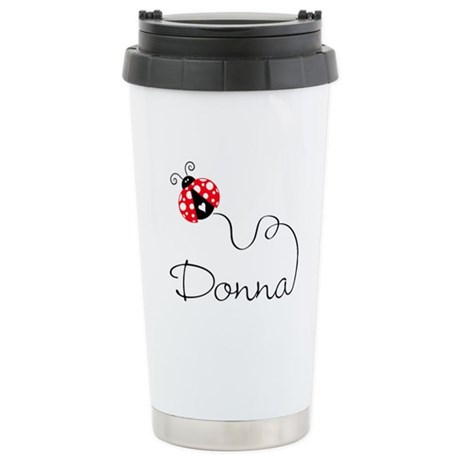 Ladybug Donna Stainless Steel Travel Mug