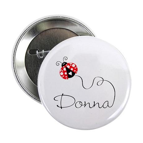 "Ladybug Donna 2.25"" Button"