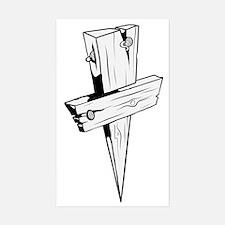 Unique Christ follower Sticker (Rectangle)