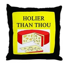 christian cheese joke Throw Pillow