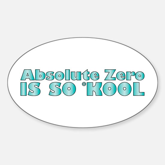 Absolute Zero Oval Decal