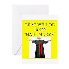 catholic joke Greeting Cards (Pk of 20)