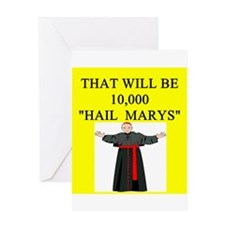 catholic joke Greeting Card