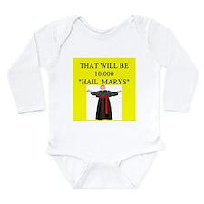 catholic joke Long Sleeve Infant Bodysuit