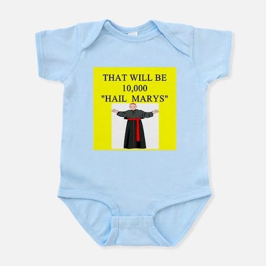 catholic joke Infant Bodysuit