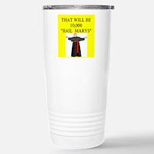 catholic joke Travel Mug