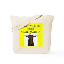 catholic joke Tote Bag