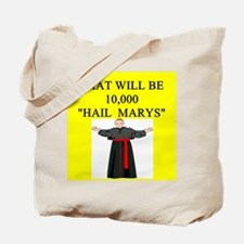 catholic joke Tote Bag