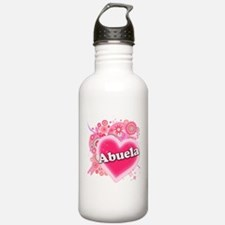 Abuela Heart Art Water Bottle