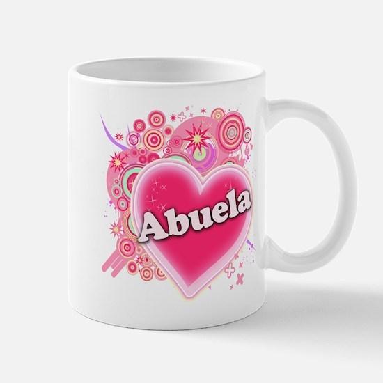 Abuela Heart Art Mug