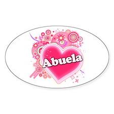 Abuela Heart Art Decal