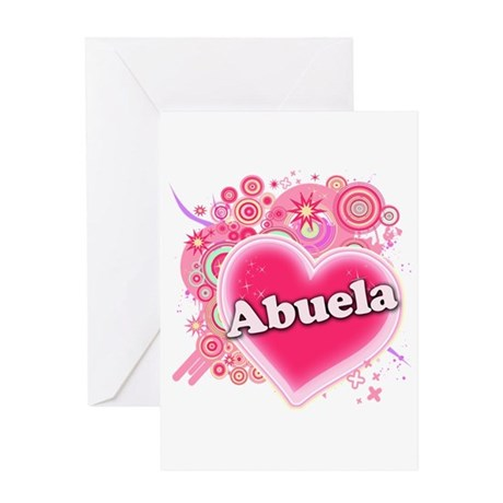 Abuela Heart Art Greeting Card