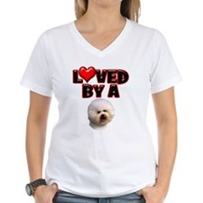 Loved by a Bichon Frise Shirt