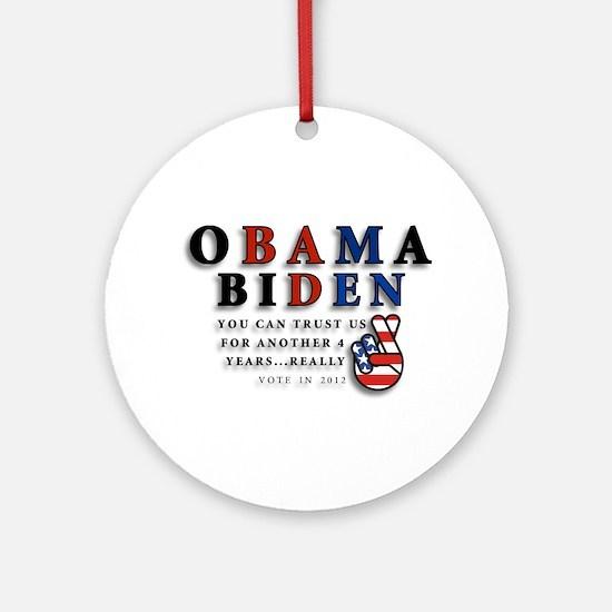 Obama Biden - Bad Men Ornament (Round)