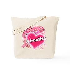 Abuelita Heart Art Tote Bag