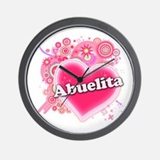 Abuelita Heart Art Wall Clock