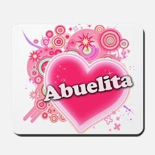 Abuelita Heart Art Mousepad