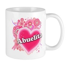 Abuelita Heart Art Small Mug