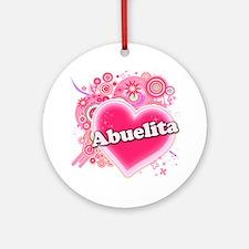 Abuelita Heart Art Ornament (Round)