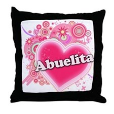 Abuelita Heart Art Throw Pillow