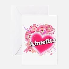 Abuelita Heart Art Greeting Card