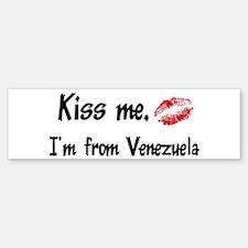 Kiss Me: Venezuela Bumper Bumper Bumper Sticker