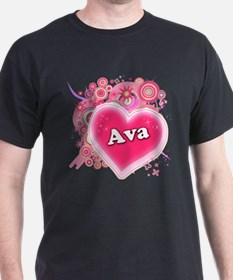Ava Heart Art T-Shirt