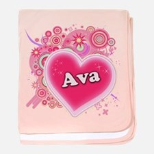 Ava Heart Art baby blanket